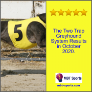 The Two Trap Greyhound System Results in October 2020